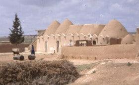 Het dorp Fah in Syrië