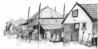 Vlammen - ill. boerderij