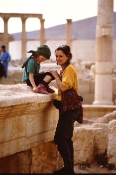 Monique en Imme in Palmyra